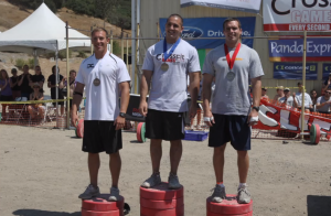 Jason Khalipa on podium 2008 CrossFit Games