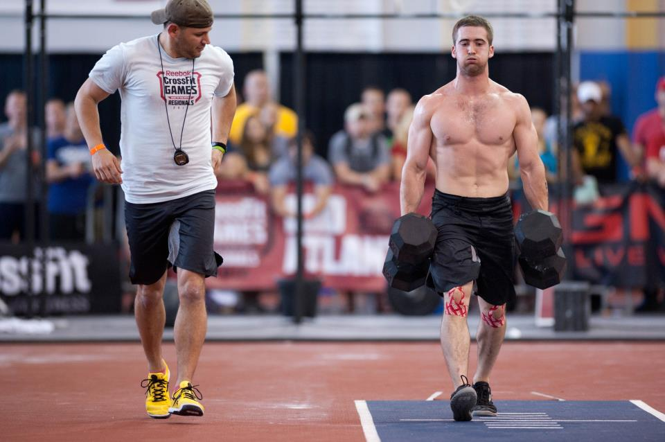 Ben smith after day one of the crossfit games