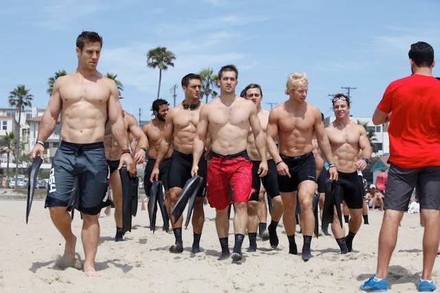 CrossFit athletes testing their fins