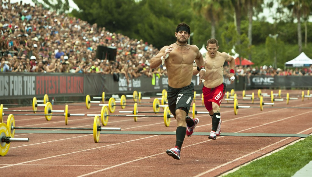 Matt Chan chasing down Froning in the Track Triplet