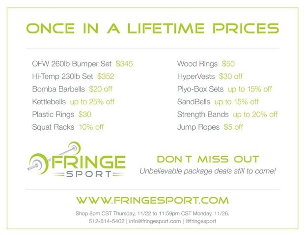 FringeSport Online Black Friday Sale
