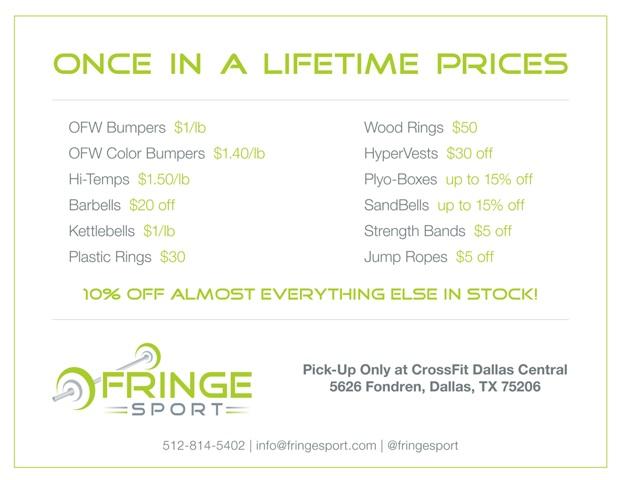 FringeSport Black Friday Sale in Dallas!