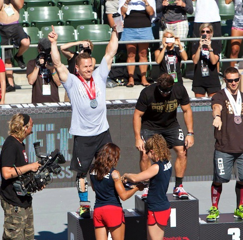 Matt Chan 2012 Reebok CrossFit Games Podium 2nd Place