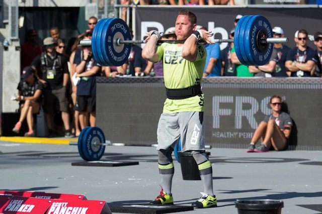 Matt Chan During the 'Clean Ladder' at the 2012 CrossFit Games