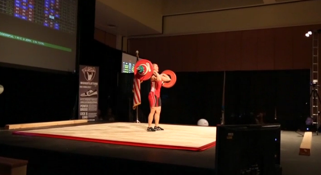 Kristan Clever at the 2012 USA Weightlifting American Open
