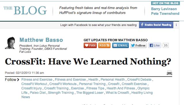 CrossFit Huffington Post