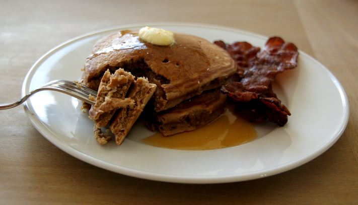 Paleo Pancakes and Bacon