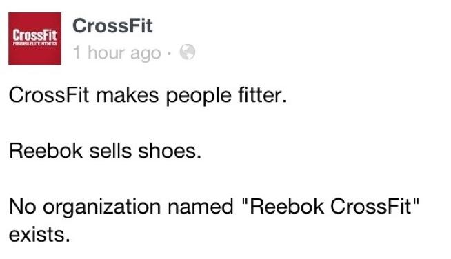 CrossFit v Reebok: Social Media Sledge