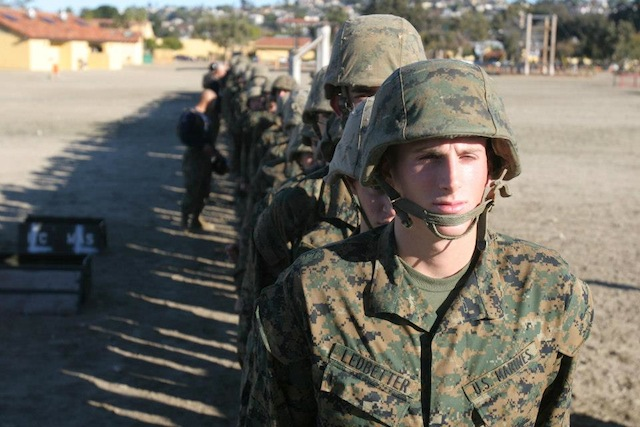 Recruits at Marine Corps Recruit Depot San Diego