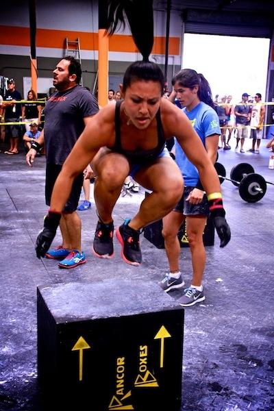 Jamie Hagiya CrossFit box jump
