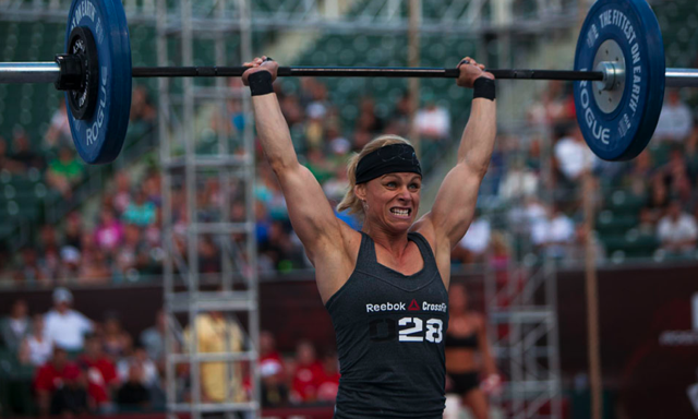 Becky Conzelman at the 2012 CrossFit Games (Image Source: CrossFit Facebook Page)