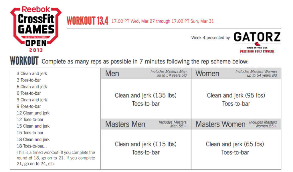 Reebok CrossFit Open 13.4