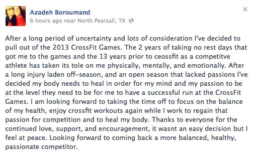 Azadeh Boroumand's Facebook Page