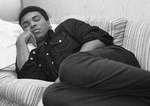 Muhammad Ali Sleeping