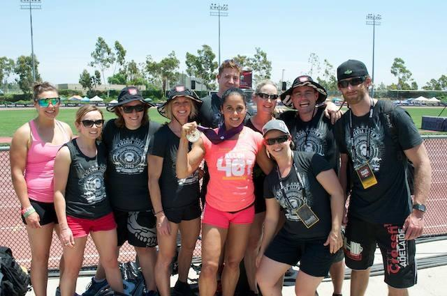 amanda allen and her team at the 2013 crossfit games