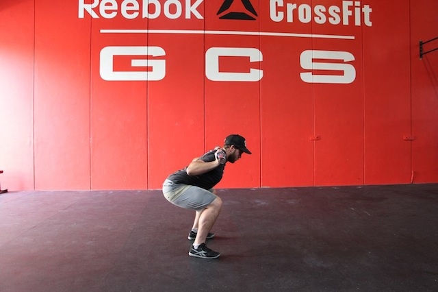 Finish Position for Back Squat with a Bar