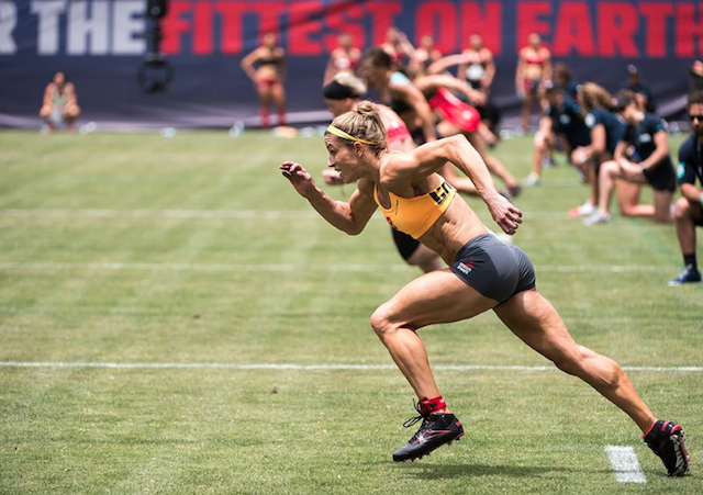 Michelle Crawford at the 2013 CrossFit Games (Image courtesy of CrossFit's Facebook page)