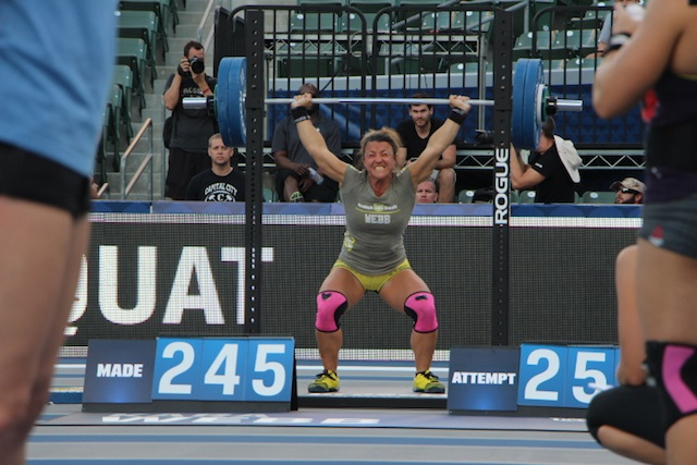 Kara Webb OHS Jordan Troyan 2014 CrossFit Games- The Beach Event - Team Australia