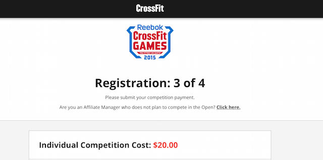 CrossFit Games Registration