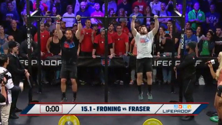Rich Froning Defeats Mat Fraser in 15.1
