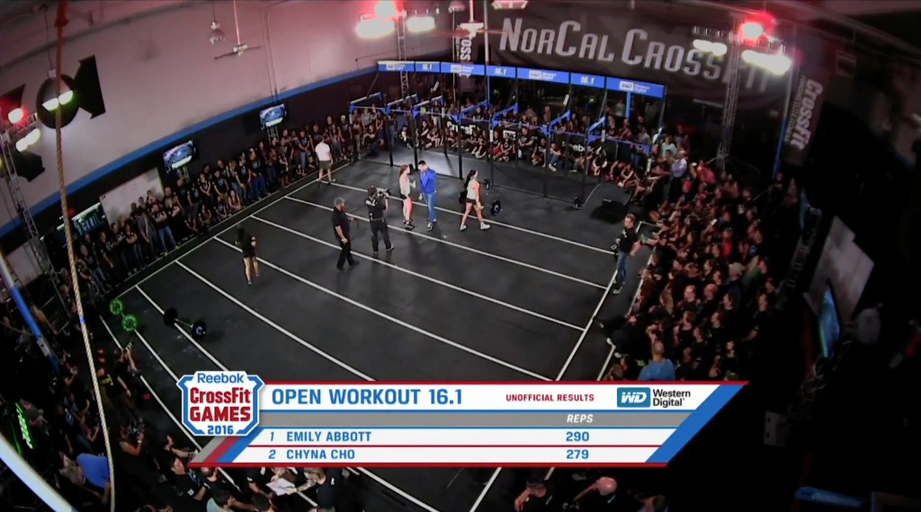 Emily Abbott defeats Chyna Cho in crossfit open 16.1 3