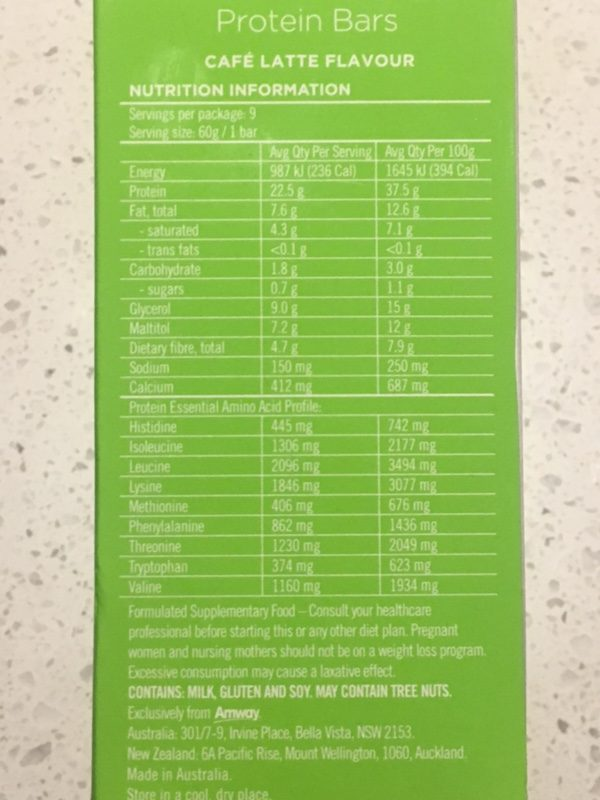 positrim protein bars