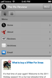 The Rx Review Mobile Device Format