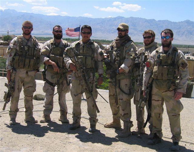 Lt Michael Murphy with team members