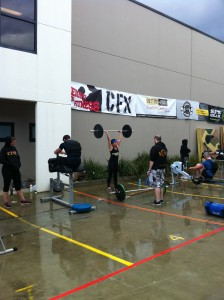 Participating at CrossFit Competition