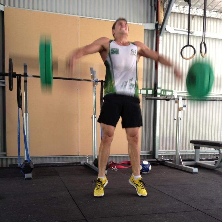 Brendan Clarke Working Out in his Home Gym