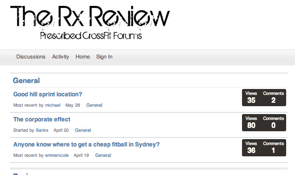 The Rx Review Forums