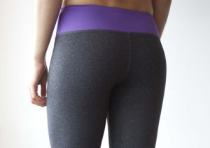 WOD Gear Purple & Grey Crop Pants