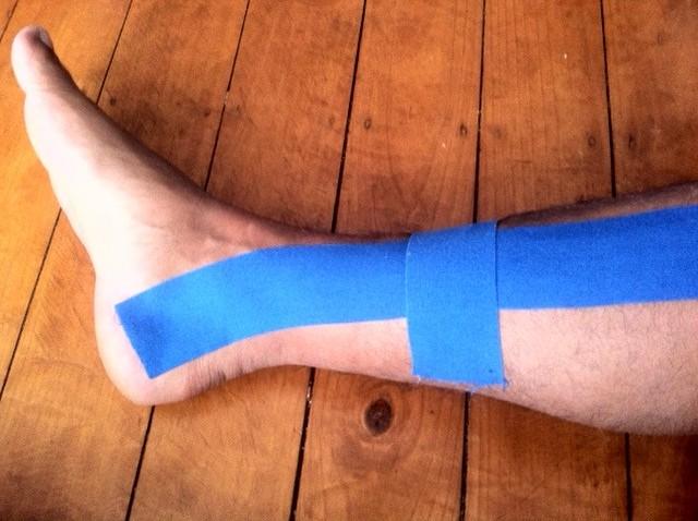 ROCKTAPE on my ankle