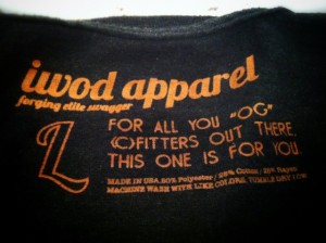 iWOD Apparel: Inside Logo