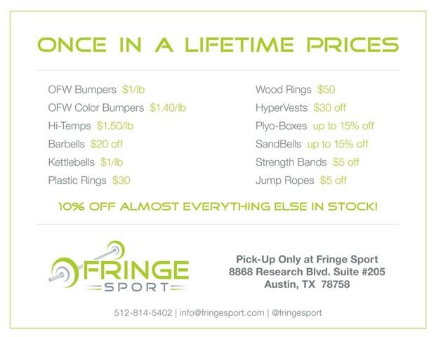 FringeSport's Black Friday Sale!