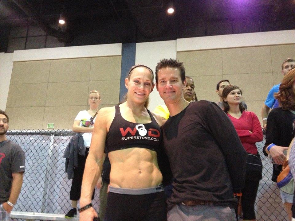 Talayna Fortunato and coach Doug Katona