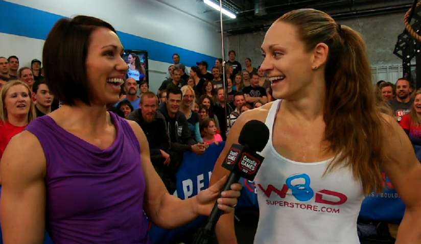 Mirando Oldroyd and Talayna Fortunato at the 13.3 Workout