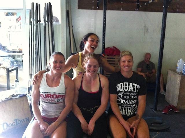 Me with Dr. Lindsey Matthews, (behind), Sam Briggs (left_ & Lindsey Valenzuela (right)